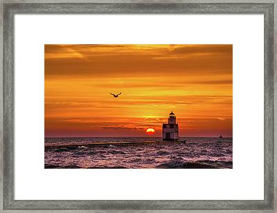 Framed Print featuring the photograph Sunrise Solo by Bill Pevlor