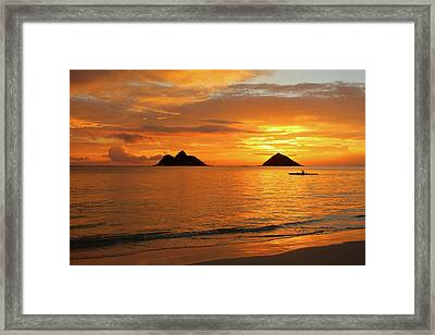 Sunrise Solo Framed Print by Brian Governale
