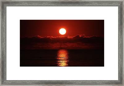 Sunrise Spotlight Delray Beach Florida Framed Print