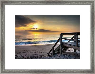 Sunrise Stairway Framed Print