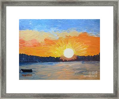 Sunrise Sensation Framed Print by Stella Sherman