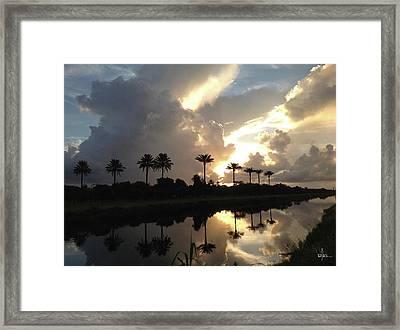 Sunrise Storm Framed Print