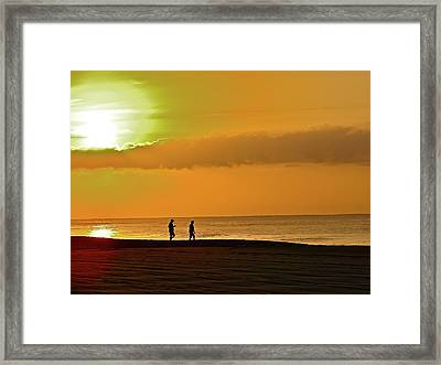 Sunrise Stroll Framed Print