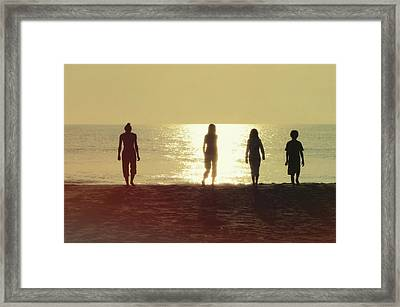 Sunrise Strolling Framed Print by JAMART Photography