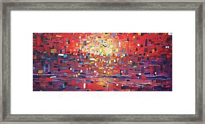 Sunrise, Sunset Framed Print by Andres A Garcia-Velez