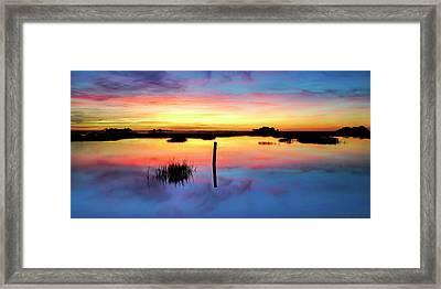 Sunrise Sunset Image Art - Be Here Now Framed Print by Jo Ann Tomaselli
