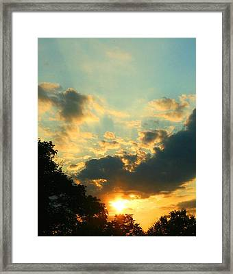 Sunrise Sunset Framed Print