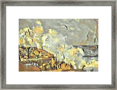 Sunrise Surf II Framed Print