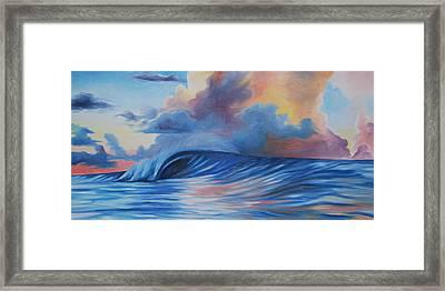 Sunrise Surf Framed Print by Katherine  Fyall