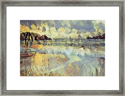 Sunrise Surf Framed Print