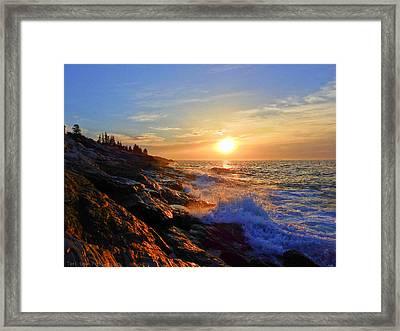 Sunrise Surf Framed Print