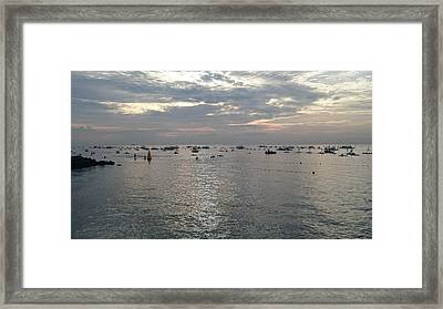 Sunrise Swimming  Framed Print
