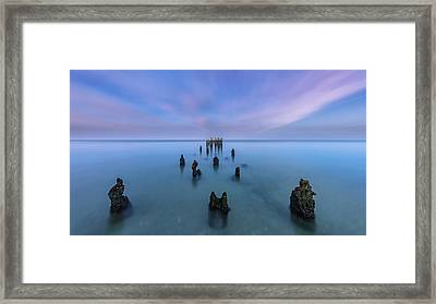 Framed Print featuring the photograph Sunrise Symmetry by Mike Lang