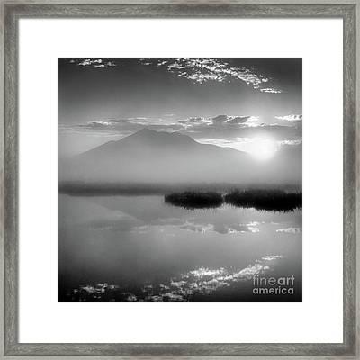 Framed Print featuring the photograph Sunrise by Tatsuya Atarashi