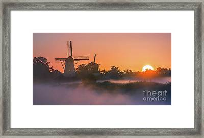Sunrise Ten Boer - Netherlands Framed Print