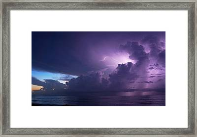 Sunrise Thunderstorm Framed Print