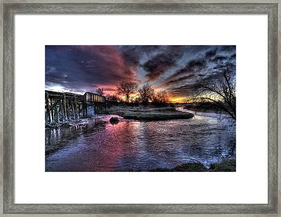 Sunrise Trestle #1 Framed Print