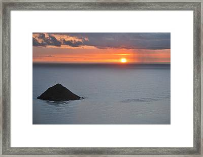 Framed Print featuring the photograph Sunrise View by Amee Cave