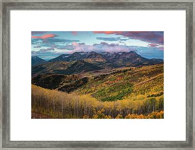 Sunrise View Of Mount Timpanogos Framed Print