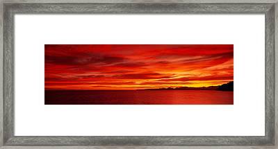 Sunrise, Water, Mulege, Baja Framed Print
