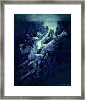 Framed Print featuring the digital art Sunrise Water Nymphs by Pennie McCracken