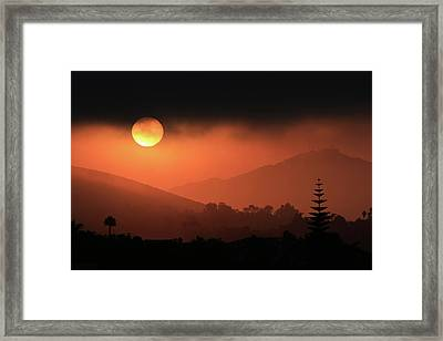 Sunrise With Coastal Fog Framed Print by Robin Street-Morris