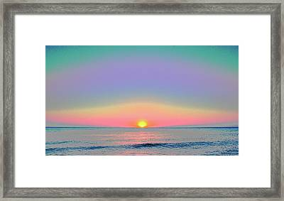 Sunrise With Digits Framed Print by Cloe Couturier