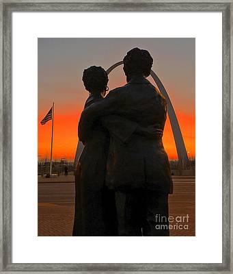 Sunrise With The Scotts 1 Framed Print by Debbie Fenelon
