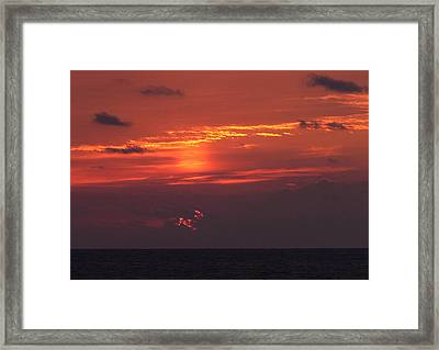 Sunrising Out Of Clouds Framed Print by Tom LoPresti
