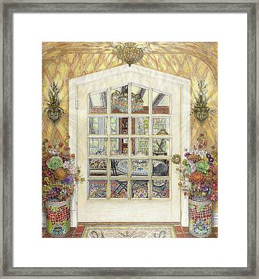 Sunroom Entrance Framed Print by Bonnie Siracusa