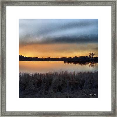 Sunrise On A Frosty Marsh Framed Print by RC deWinter