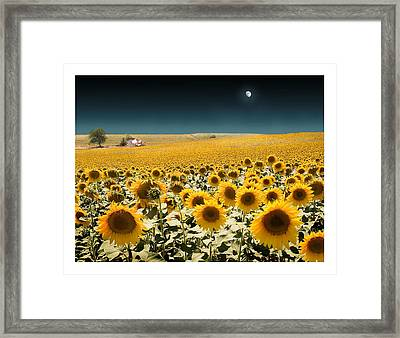 Suns And A Moon Framed Print by Mal Bray