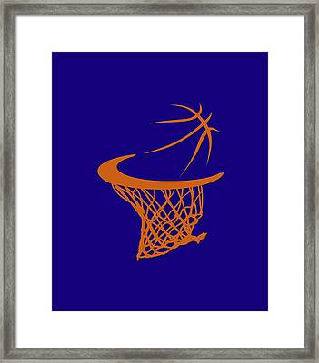 Suns Basketball Hoop Framed Print