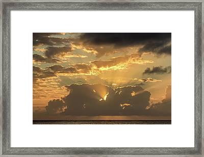 Sun's Rays Framed Print