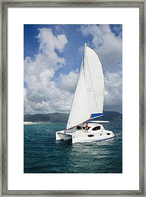 Sunsail Catamaran Framed Print