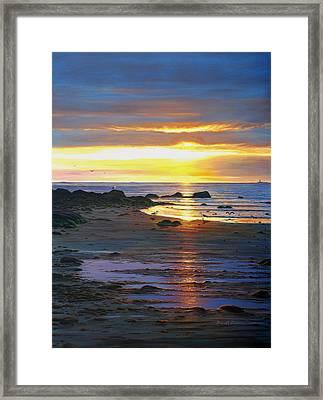 Sunscape Framed Print by Bruce Dumas