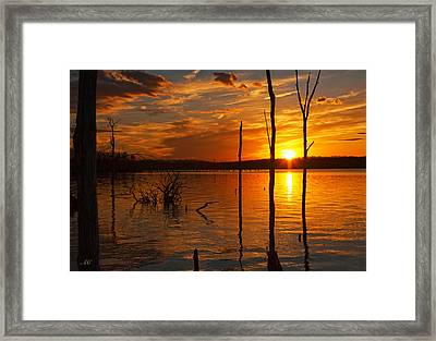 Framed Print featuring the photograph sunset @ Reservoir by Angel Cher