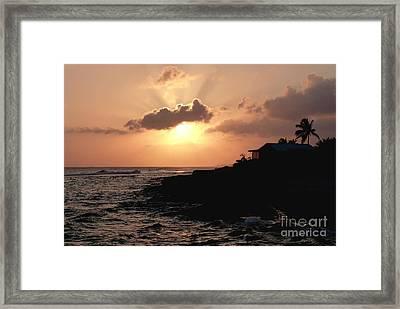 Sunset @ Spotts Framed Print