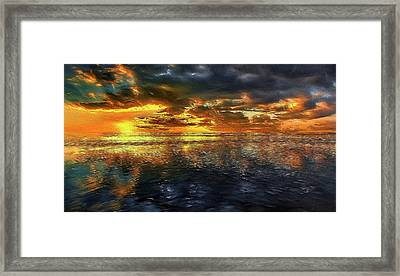 Sunset #95 Or Sunset Over The Atlantic. Framed Print