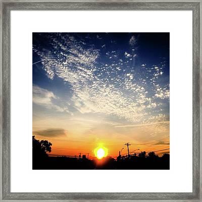 Sunset 25 May 16 Framed Print
