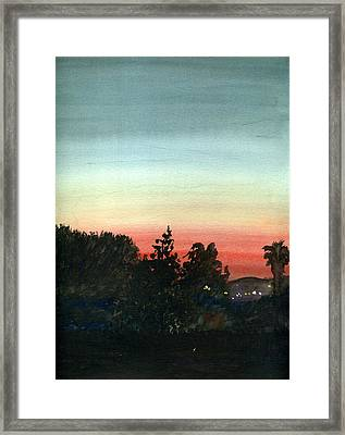 Sunset #26 Lemon Grove Framed Print