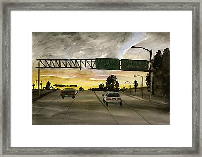 Sunset #28 Freeway Framed Print