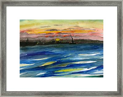 Sunset 29 San Diego Harbor Framed Print