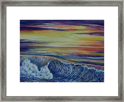 Sunset 3 Framed Print by Arnold Hurley