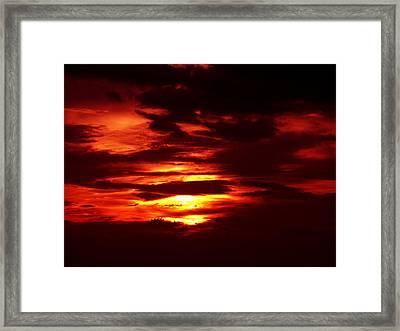 Sunset 3 Framed Print by Evelyn Patrick
