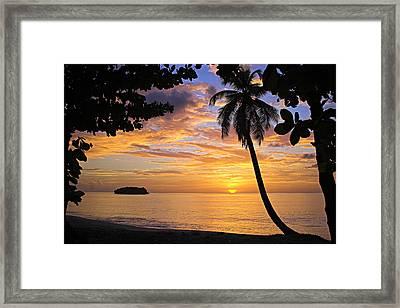 Sunset 3-st Lucia Framed Print