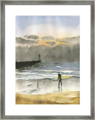 Sunset 34 Mission Beach Framed Print