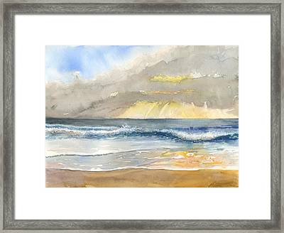 Sunset 35 Crown Of Coronado Framed Print