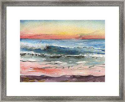 Sunset 39 Imperial Beach Framed Print