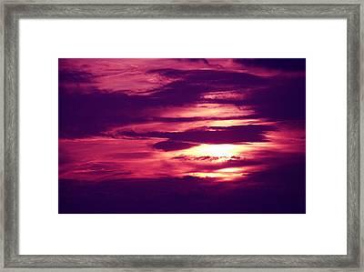 Sunset 4 Framed Print by Evelyn Patrick